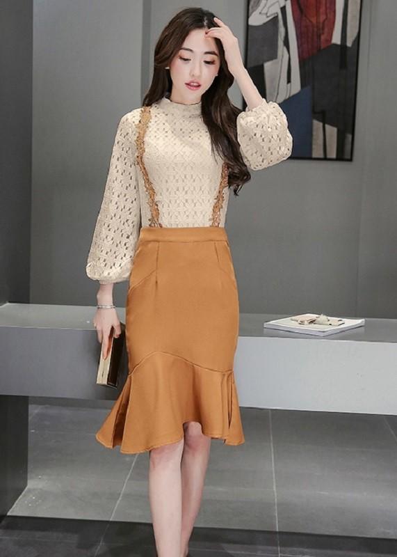 GSS1722 Top+Skirt white,apricot $21.97 70XXXX7776584-LA2LVB40-C1
