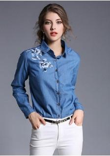 GSS3009 Blouse blue $17.13 48XXXX3474279-LA6LV611-A
