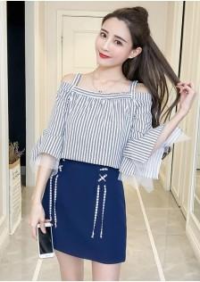 GSS925 Top+Skirt white,blue $17.13 48XXXX7921572-LA1LV140-K