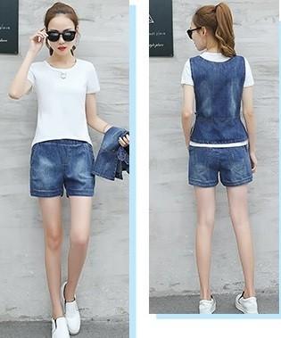 GSS8959X 3pcs-Top+Shorts *