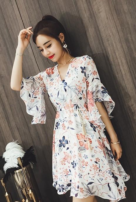 GSS3923 Dress white,apricot $17.15 45XXXX8171356-LA3LVC313-E