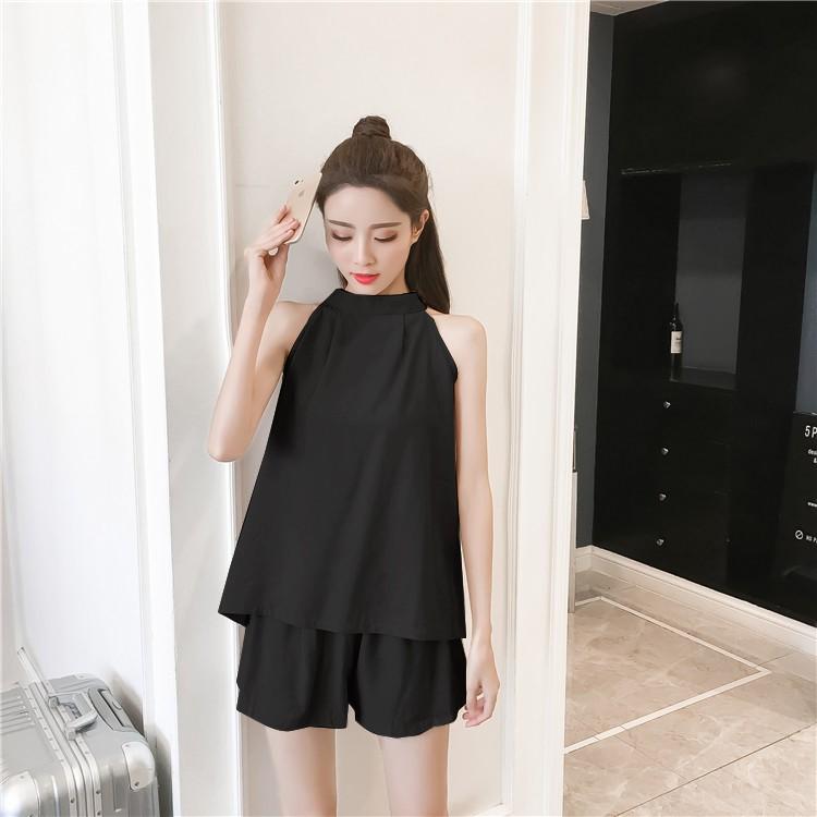 GSS5835 Top+Shorts khaki,black $16.50 42XXXX8917028-SD5LV501-A