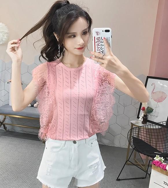 GSS9989 Blouse pink,white,black $11.72 20XXXX9085434-LA4LVE407-D
