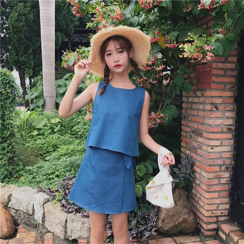 GSS0679 Top+Skirt blue $14.98 35XXXX8899060-OH1LVC06-H