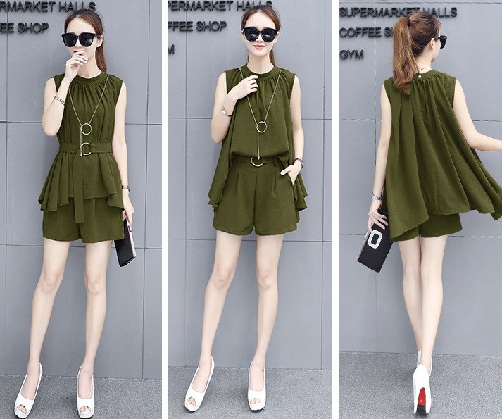 GSS728 Top+Shorts green,creamy,yellow,black,red $16.50 42XXXX8170438-SD1LVAF16