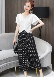 GSS5561 Top+Pants Top-white+Pants-black,Top-black+Pants-white $17.80 48XXXX9165746-NU3LV350-G