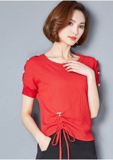GSS8905 Blouse red,black,pink $15.63 38XXXX8292624-JM5LVE066