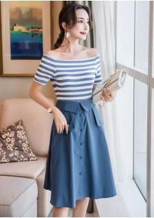GSS8710 Top+Skirt blue,green $20.41 60XXXX8304523-JM5LVE066