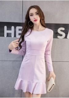 GSS8153X Dress purple,light-blue,khaki,light-gray,pink $18.50 42XXXX9026531-SD3LV320-C