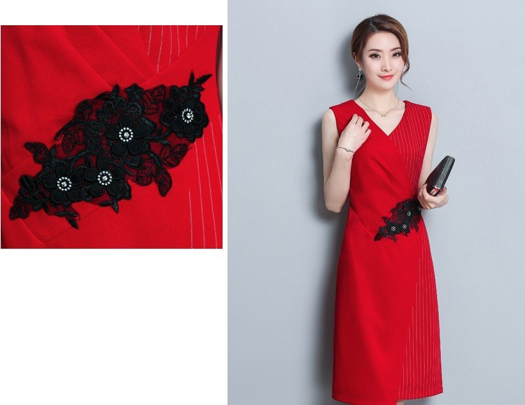 GSS8873X Dress red,black $18.72