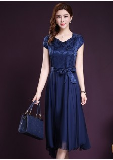 GSS8065X Dress.*** $20.80 blue,Red-wine,Silver-grey,gold
