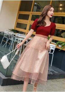 GSS6137X Top+Skirt*