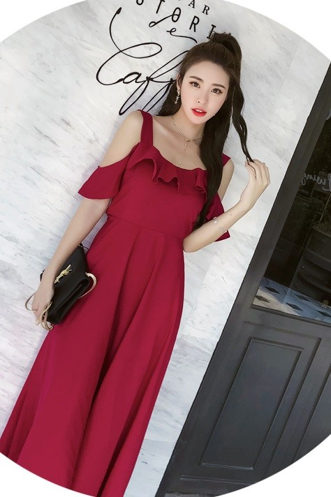 GSS8781 Dress red