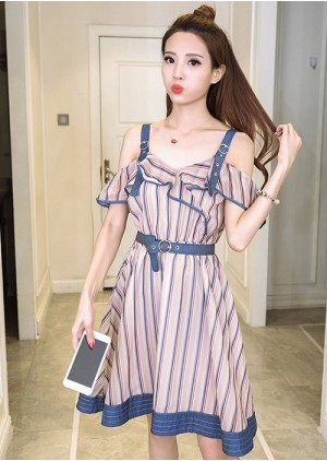GSS5096 Off-Shoulder-Dress.***