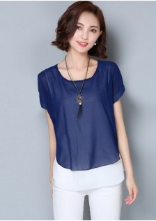GSS3628XX Fake 2pcs Blouse