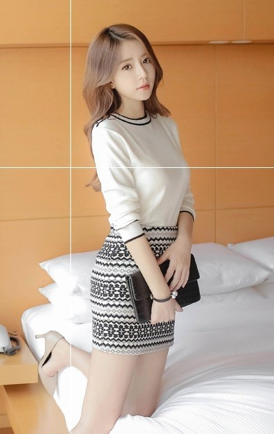 GSS119XX Top+Skirt