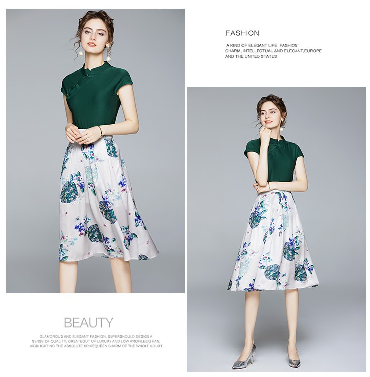 GSS1086X Cheongsam-Top+Skirt