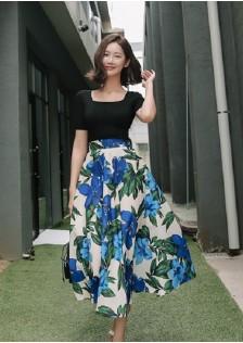 JNS0207X Top+Skirt